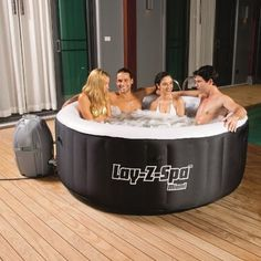 Outdoor Portable Folding Palm Jacuzzi Inflatable Heated 4 Person Hot Tub