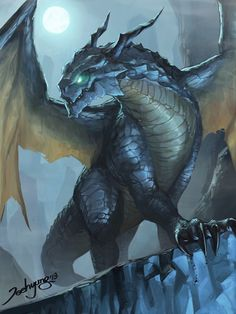 """"""" Sweet dragon art from –> JeeHyung lee """" Magical Creatures, Fantasy Creatures, Cool Dragons, Dragon's Lair, Dragon Artwork, Dragon Pictures, Fantasy Monster, Blue Dragon, Mythological Creatures"""