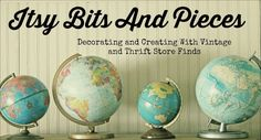 Meet this weeks Vintage Blog of the Week at Adirondack Girl @ Heart: Vintage Blog of the Week: Itsy Bits And Pieces
