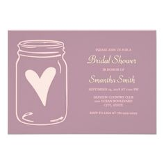 Simple Purple Mason Jar Bridal Shower Invitations Yes I can say you are on right site we just collected best shopping store that haveThis Dealslowest price Fast Shipping and save your money Now! Wedding Shower Invitations, Wedding Invitation Design, Invites, Purple Mason Jars, Wedding Guest Table, Wedding Day Wishes, Wedding Favors Cheap, Vintage Bridal, Trendy Wedding
