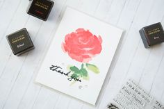 Easy Watercolor Stamping w/ Altenew Painted Rose
