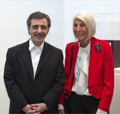 Manuel Borja-Villel, director of the Reina Sofía Museum, with Soledad Lorenzo.