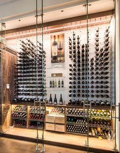 modern wine cellar cable wine system 31