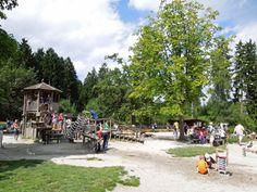 Spielplatz im Wildpark Poing - hier wird es schwierig, die Kinder zum Weitergehen zu bewegen...