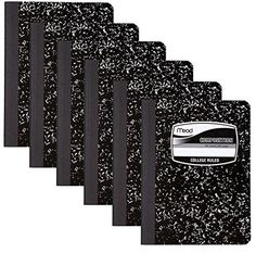 6 PACK-Of Mead Square Deal Composition Book 100-Count College Ruled Black Marble (09932) 6 pack