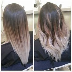 ash colored balayage