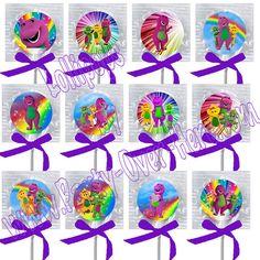 Barney Purple Dinosaur Lollipops Suckers with by PartyOverHereEtsy, $9.99