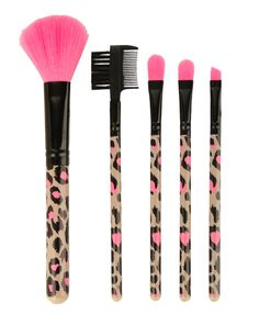 Leopard Cosmetic Brush Set, FOREVER21 ♥♥