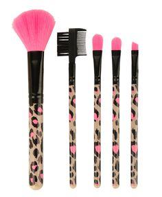 Leopard Cosmetic Brush Set, FOREVER21 ♥♥