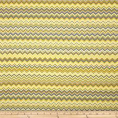 A.E. Nathan Chevron Yellow/Grey/White from @fabricdotcom  Designed for A.E. Nathan, this cotton print is perfect for quilting and craft projects as well as apparel and home décor accents.The stripe is horizontal to the selvedge as pictured. Colors include yellow, grey and white.