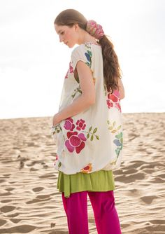 """""""Florencia"""" cotton/silk tunic – {{p_2015_mayextra_passionateroses_title}} – GUDRUN SJÖDÉN – Webshop, mail order and boutiques 