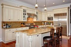 kitchen island breakfast bar curved asheville private communities