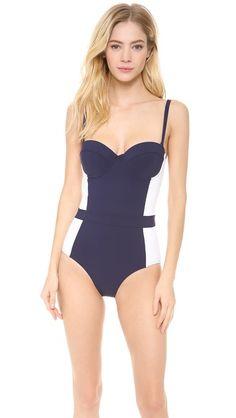 retro one-piece swimsuit