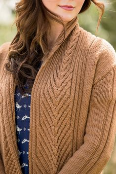 L'Acadie Cardigan pattern, Interweave Knits, Winter 2014.