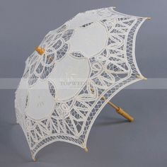 Cotton Lace Wedding Parasol for Flower Girl Ivory Color Sun Only