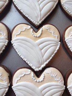 Wedding cookies | Cookie Connection Fancy Cookies, Valentine Cookies, Iced Cookies, Cute Cookies, Sugar Cookies, Frosted Cookies, Wedding Shower Cookies, Wedding Cake Cookies, Bridal Shower