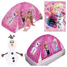 Disney Frozen Light Up Bed Tent / Floor Tent 3 Piece Play Set @ niftywarehouse.com #NiftyWarehouse #Frozen #FrozenMovie #Animated #Movies #Kids