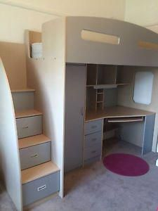 Odyssey Space Saver Loft Bed Kids Bedroom Harvey Norman