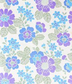 Retro Tapet Minnie floral pattern blue purple lavender