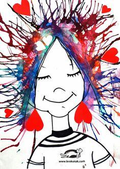 I'm crazy in love with you watercolour blown straw art Kindergarten Art, Preschool Crafts, Fun Crafts, Arte Elemental, Blow Paint, 2nd Grade Art, Art And Hobby, Valentine Day Crafts, Art Activities