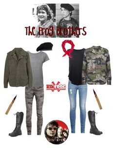 """""""~The Frog Brothers~"""" by abigailmacenzie ❤ liked on Polyvore featuring True Religion, Ragdoll, Topshop, STELLA McCARTNEY, Raquel Allegra, Topman, Hot Topic, TheLostBoys, edgarfrog and thefrogbrothers"""
