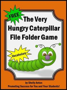 Spring: Free Spring Activities -  Here is a spring file folder game that goes along with the book, The Very Hungry Caterpillar. However, the book isn't required for use.  Students will match the pictures with the vocabulary words.  This game works well in a literacy center.File folder games also work well for early childhood, special education and as independent work tasks for students with autism.-----------------------------------You may also like:       The Very Hungry Caterpillar Math…