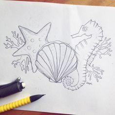 Un #sketch de lo que se viene  #illustration #draw #doddle #sea #starfish…