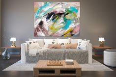Large Abstract Painting,huge canvas painting,extra large abstract,xl abstract painting,textured art FY0004