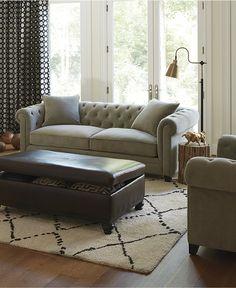 martha stewart saybridge tufted back sofa martha stewart room and rh pinterest com Martha Stewart Velvet Couch Martha Stewart Furniture