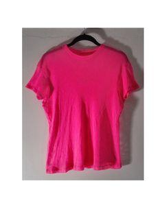 Neon Pink Short Sleeve Fishnet Top by BondStreetExit on Etsy