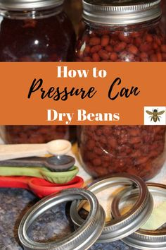 It's wonderful to have canned beans in your pantry! I love using them for chili and soups all winter long! Let me show you how to pressure can dry beans! Pressure Canning Recipes, Canning Pressure Cooker, Canning Tips, Pressure Cooker Chicken, Pressure Cooker Recipes, Pressure Cooking, Low Acid Recipes, Canning Process, Canning Granny