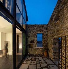 Natural walled patio