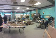 Amazing studio space of Art Outside the Lines in Columbus, Ohio.