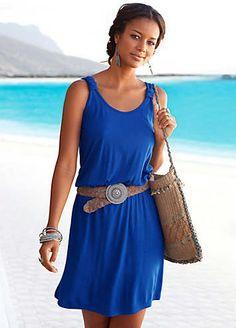 Beachtime Royal Blue Racer Back Dress £25.00