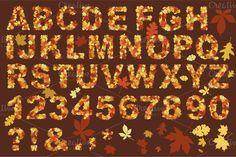 Check out Autumn letters design by Darish http://crtv.mk/iOAD