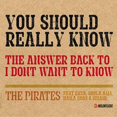 Found You Should Really Know by The Pirates Feat. Shola Ama & Naila Boss with Shazam, have a listen: http://www.shazam.com/discover/track/40341295