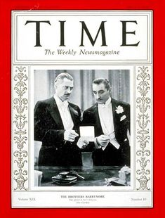 TIME Magazine Cover: Barrymore Brothers - Mar. 7, 1932 - Actors - Movies - Broadway - Theater