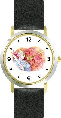 Alexander the Great - WATCHBUDDY® DELUXE TWO-TONE THEME WATCH - Arabic Numbers - Black Leather Strap-Size-Children's Size-Small ( Boy's Size & Girl's Size ) WatchBuddy. $49.95