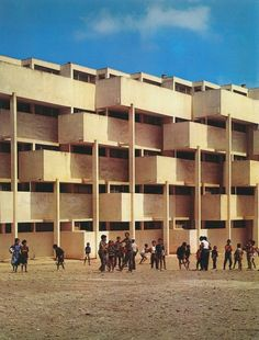 low-cost apartments, casablanca (1954-5) by andre studer