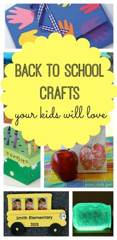 The kids will love making these fun and messy back to school crafts to kick off the new and exciting year ahead :)