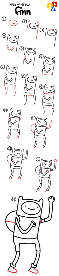 How to draw Finn from Adventure Time!