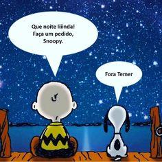 "Primeiramente: Fora Temer ""Segundamente"": Primeiramente ""Terceiramente"": Boa… Charlie Brown And Snoopy, A Comics, Comic Strips, Tweety, Funny Memes, Geek Stuff, Instagram Posts, Fictional Characters, Twitter"