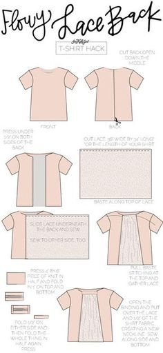 Flowy Lace Back Tee | TSHIRT HACK