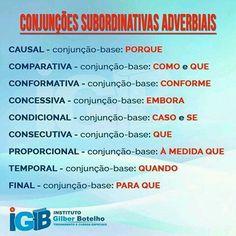 Conjunções Subordinativas Adverbiais
