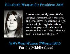 Elizabeth Warren for President 2016 | Hope she runs!