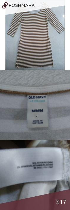Old Navy Pocket Dress Old Navy Dress with Pockets Brown creme striped Size  Medium Gently used 9df1c3180db9