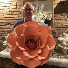 "29"" Extra Large Rose. Paper Flower Templates Available in The Crafty Sagittarius shop. Comes in SVG and PDF files . Comprehensive video tutorials are included."