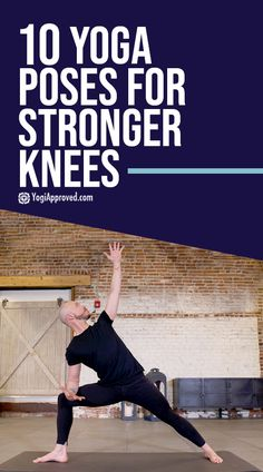 10 Yoga Poses for Knees to Strengthen Prevent Injury | YogiApproved