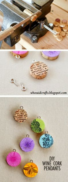 Wine Cork Pendants | Who said Crafts