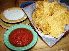 Image result for chips salsa queso